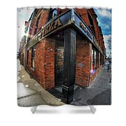 Architecture And Places In The Q.c. Series Prima Pizza 01 Shower Curtain