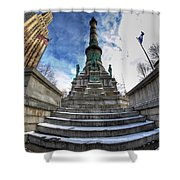Architecture And Places In The Q.c. Series  Soldiers And Sailors Monument In Lafayette Square Shower Curtain