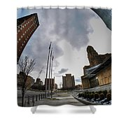 Architecture And Places In The Q.c. Series War Of Architecture  Shower Curtain