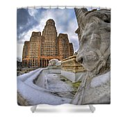 Architecture And Places In The Q.c. Series When The Lions Rest Shower Curtain