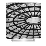 Architecture Ceiling In Black And White Shower Curtain
