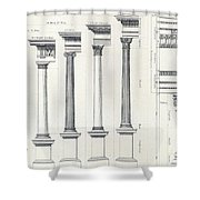 Architecture I Orders Of Architecture Engraved By Charles Lawrie Shower Curtain