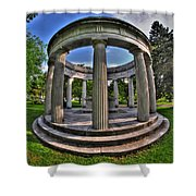 Architecture Of Forest Lawn  Shower Curtain