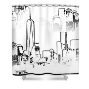 Architecture Of New York City Shower Curtain by Dan Sproul