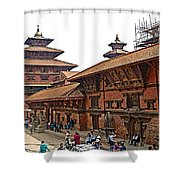 Architecture Of Patan Durbar Square In Lalitpur-nepal Shower Curtain