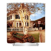 Architecture - Woodstock Vt - Where I Live Shower Curtain