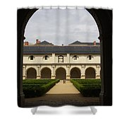Archview To The Courtyard - France Shower Curtain