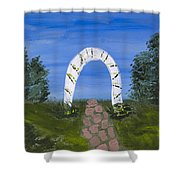 Archway Shower Curtain by Melissa Dawn