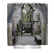Archway Muckross Abbey Shower Curtain