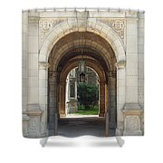Archway To Courtyard Shower Curtain