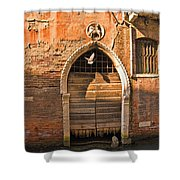 Archway With Bird In Venice Shower Curtain