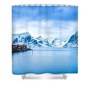 Arctic Dawn Lofoten Islands Shower Curtain
