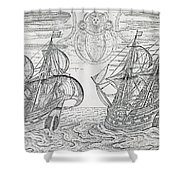 Arctic Phenomena From Gerrit De Veer S Description Of His Voyages Amsterdam 1600 Shower Curtain
