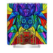 Arcturian Conjunction Grid Shower Curtain