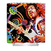 Jimi Hendrix Are You Experienced Shower Curtain