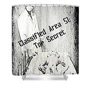 Area 51 Declassified Shower Curtain