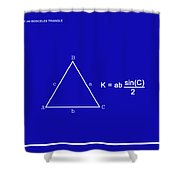 Area Of An Isosceles Triangle Dk Blue/wht Shower Curtain