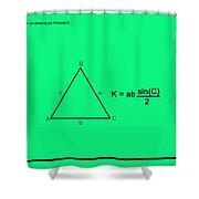 Area Of An Isosceles Triangle Green/black Shower Curtain