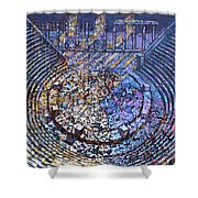 Arena Song Shower Curtain by Mark Howard Jones