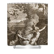 Arethusa Pursued By Alpheus And Turned Shower Curtain