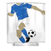 Argentina Soccer Player1 Shower Curtain