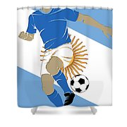 Argentina Soccer Player3 Shower Curtain