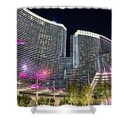 Aria Light - Aria Resort And Casino At Citycenter In Las Vegas Shower Curtain