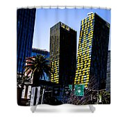 Aria Towers Shower Curtain