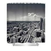Arial View Of Calgary Facing West Shower Curtain