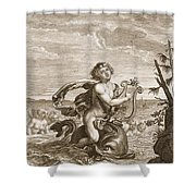 Arion Preserved By A Dolphin, 1731 Shower Curtain