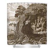 Aristeus Compels Proteus To Reveal Shower Curtain