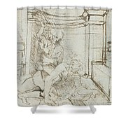 Aristotle And Phyllis Shower Curtain