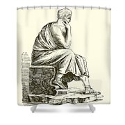 Aristotle Shower Curtain