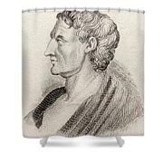 Aristotle From Crabbes Historical Dictionary Shower Curtain