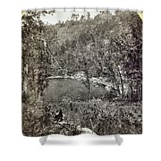 Arizona Apache Lake, 1873 Shower Curtain