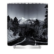 Arizona Country Road In Black And White Shower Curtain