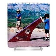 Arizona Highway Patrol Memorial Shower Curtain