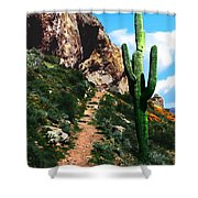 Arizona Saguaro Tonto National Monument Shower Curtain