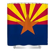 Arizona State Flag Authentic Color And Scale Version Shower Curtain