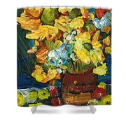 Arizona Sunflowers Shower Curtain by Sherry Harradence