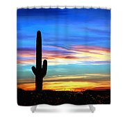Arizona Sunset Saguaro National Park Shower Curtain