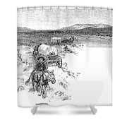 Arizona Tombstone, 1883 Shower Curtain