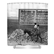 Arizona Tombstone, 1937 Shower Curtain