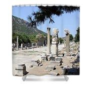 Arkadiane - Harbor Street Ephesus Shower Curtain