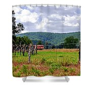 Arkansas Farmland Shower Curtain