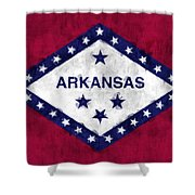 Arkansas Flag Shower Curtain