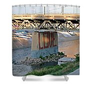 Arkansas River Walk Shower Curtain