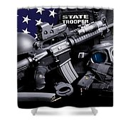 Arkansas State Police Shower Curtain by Gary Yost