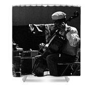 Arkestra Cellist Uc Davis Quad Shower Curtain by Lee  Santa