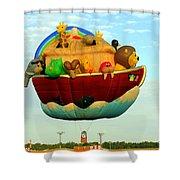 Arky Hot Air Balloon Shower Curtain